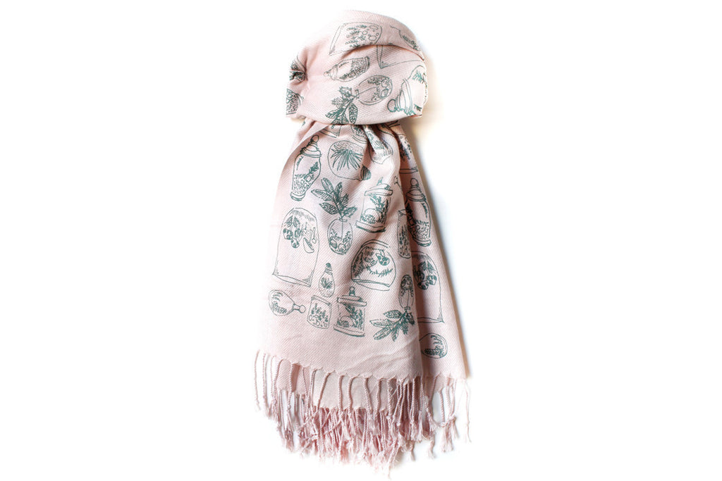 Light Pink Terrariums Scarf ---