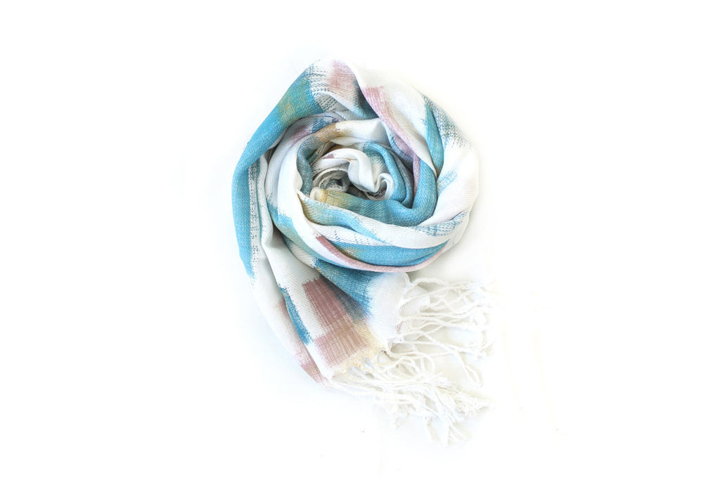 Teal + Gold Scarf