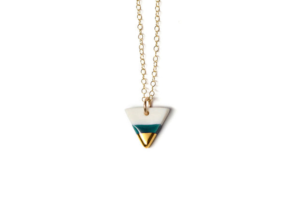 Tiny Triangle Necklace (More Colors)