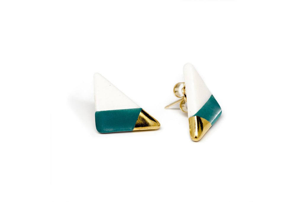 vertical triangle studs (More Colors)