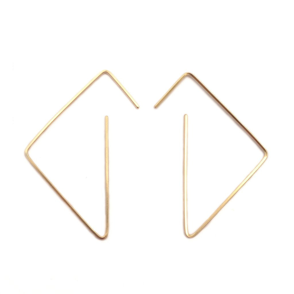 Tri Modern Hoop Earrings ---