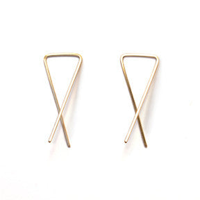 Vertex Modern Gold Hoop Earrings
