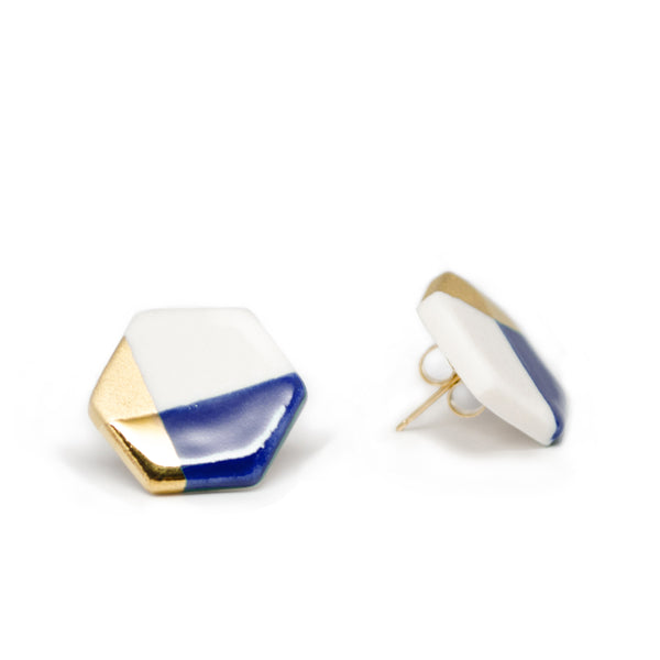 Modern Hexagon Studs (More Colors)