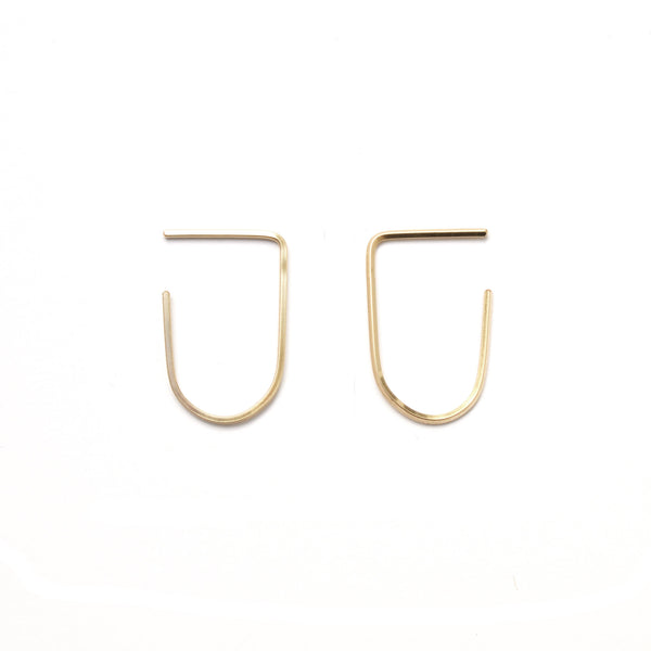 Arc Modern Gold Hoop Earrings
