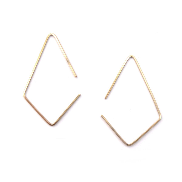 Gold Apex Modern Hoop Earrings
