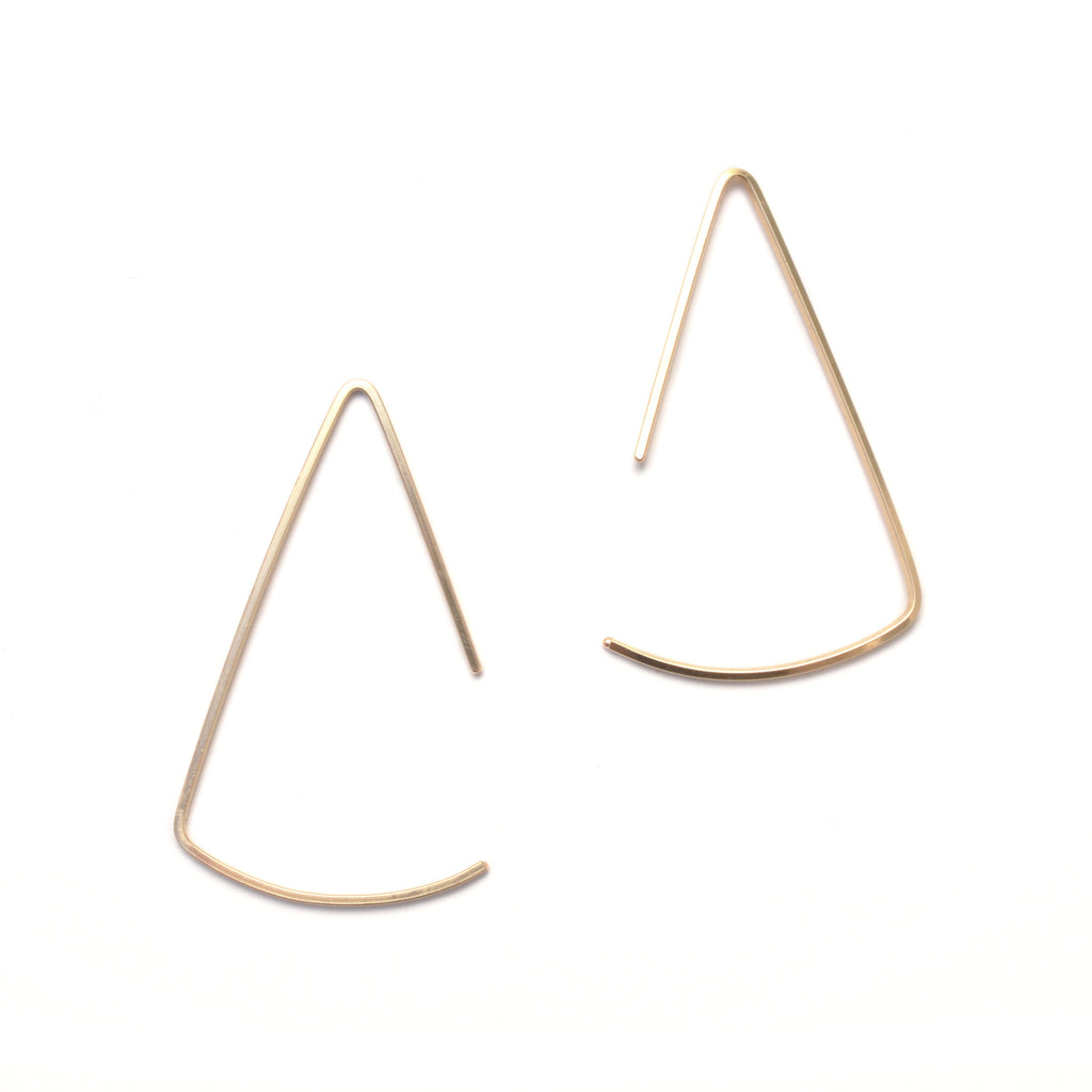 Pendulum Modern Hoop Earrings