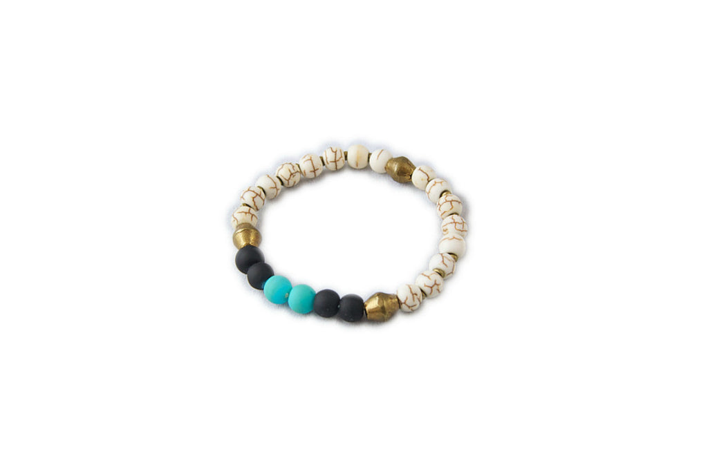 White + Bronze Petite Bracelet (More Colors)