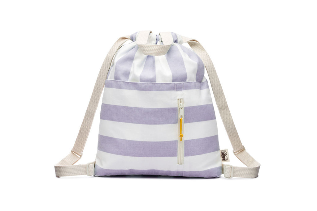 Stripe Canvas Drawstring Backpack (More Colors)