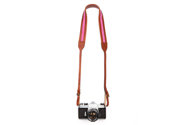 Classic Rouge Brown Leather Camera Strap ---