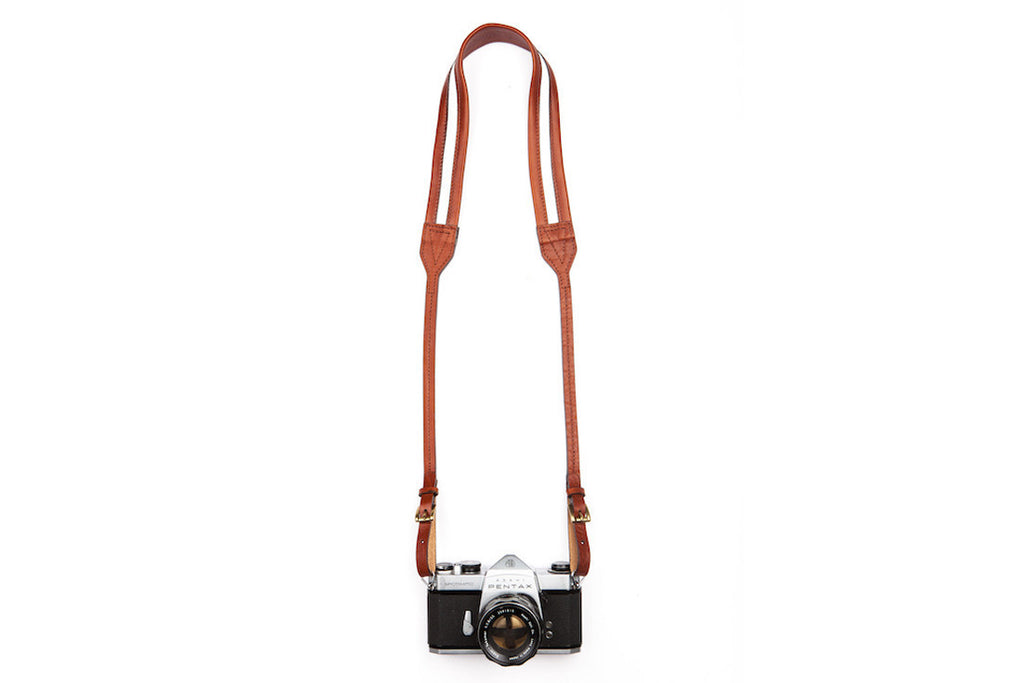 Traveler Brown Leather Camera Strap ---
