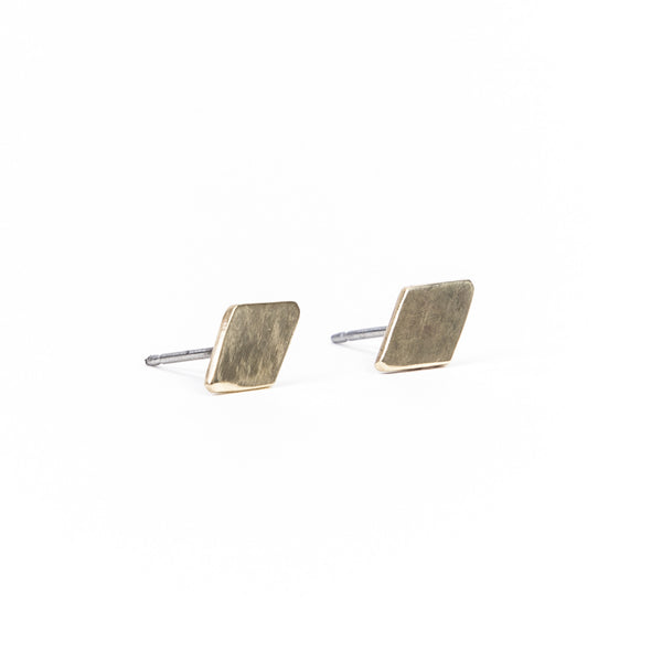 Brass Diamond Earrings ---
