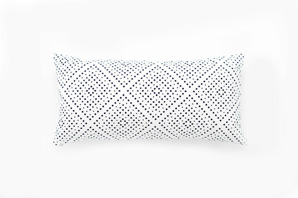 Oblong Navy Didot Pillow Cover ---