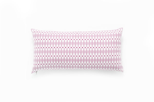 Oblong Mauve Geode Pillow Cover ---