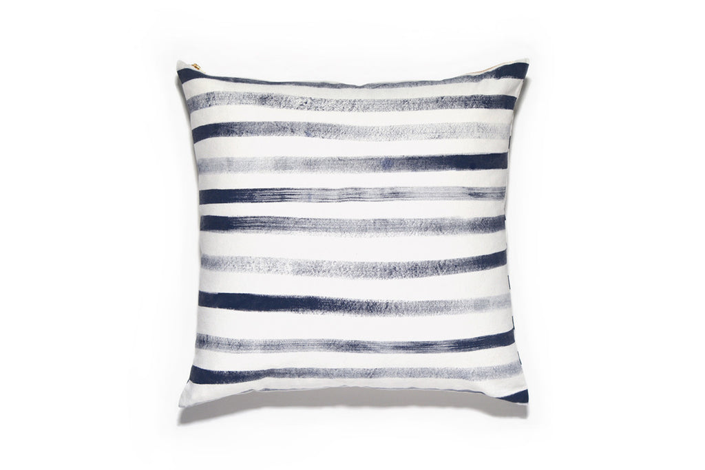 Hand Painted Stripe Pillow Cover (More Colors)