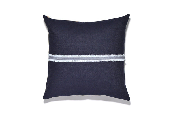 Denim Fringe Pillow Cover