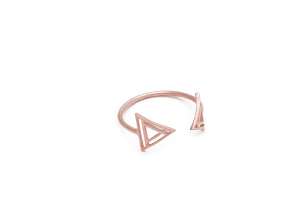 Tattooed Open Triangle Ring (More Options)
