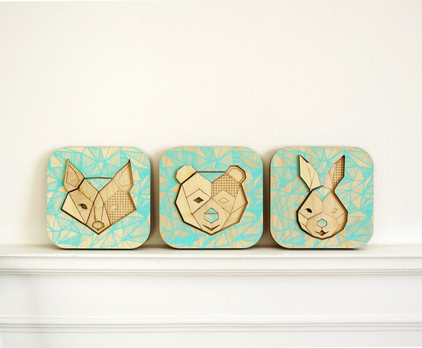 Forest Animals Wall Art ---