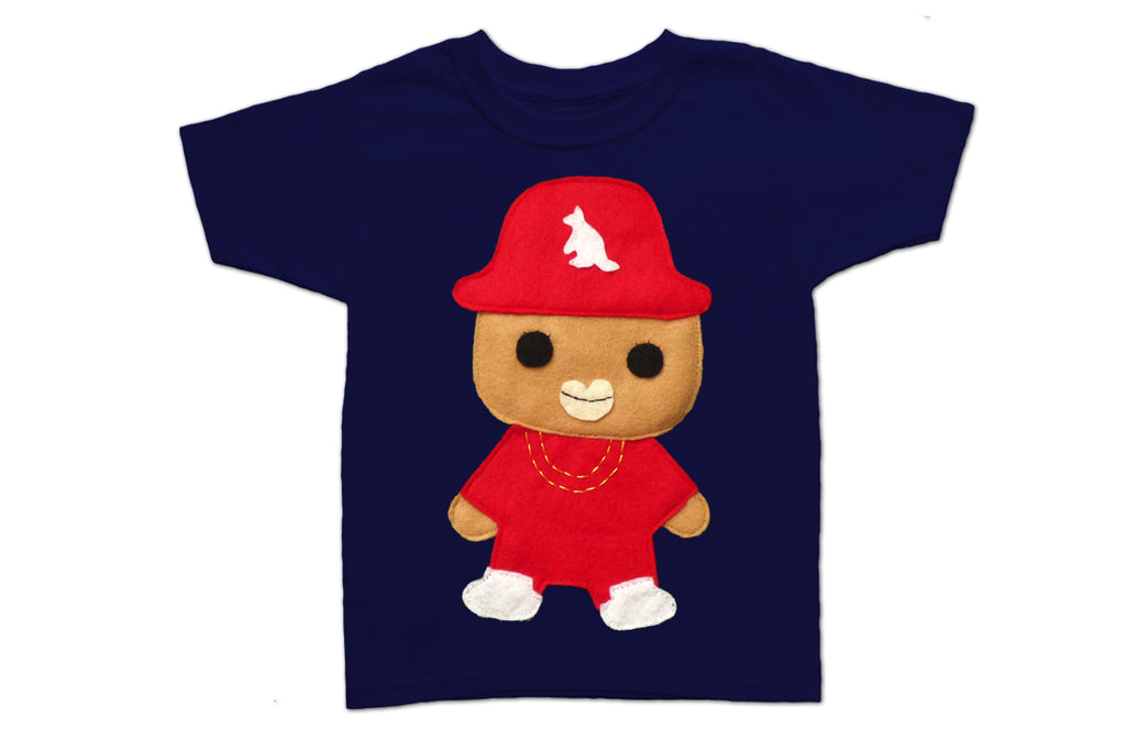 Rad Red Kangaroo Rapper Toddler Tee