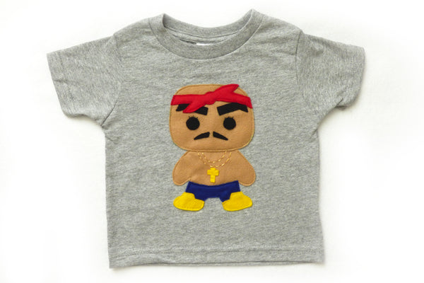 Rad Red Bandana Rapper Toddler Tee