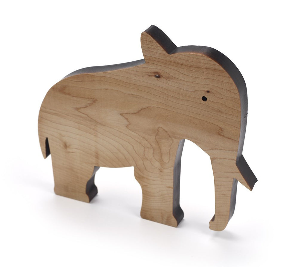 Wooden Elephant (Natural) ---
