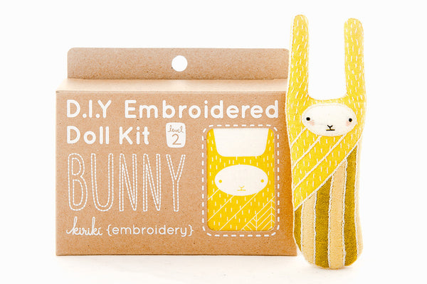 Bunny DIY Embroidered Doll Kit ---