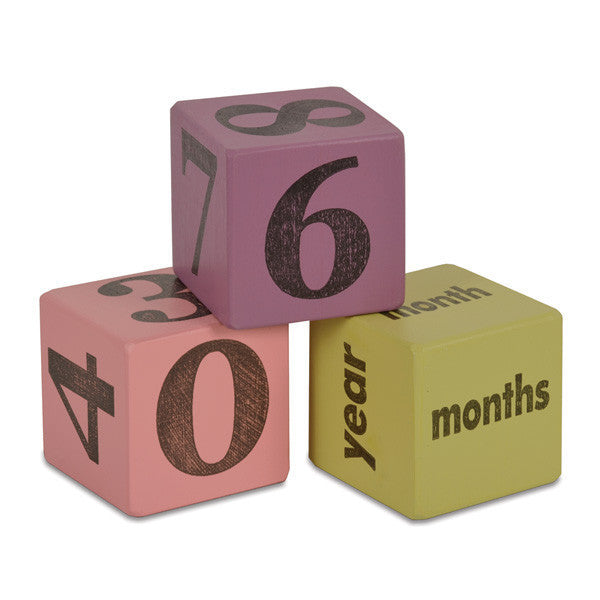 Girl Baby Age Blocks ---