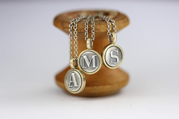 Tiny Letter Pendant Necklace