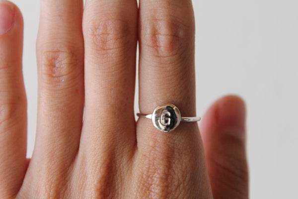 Stamp Initial Ring ---