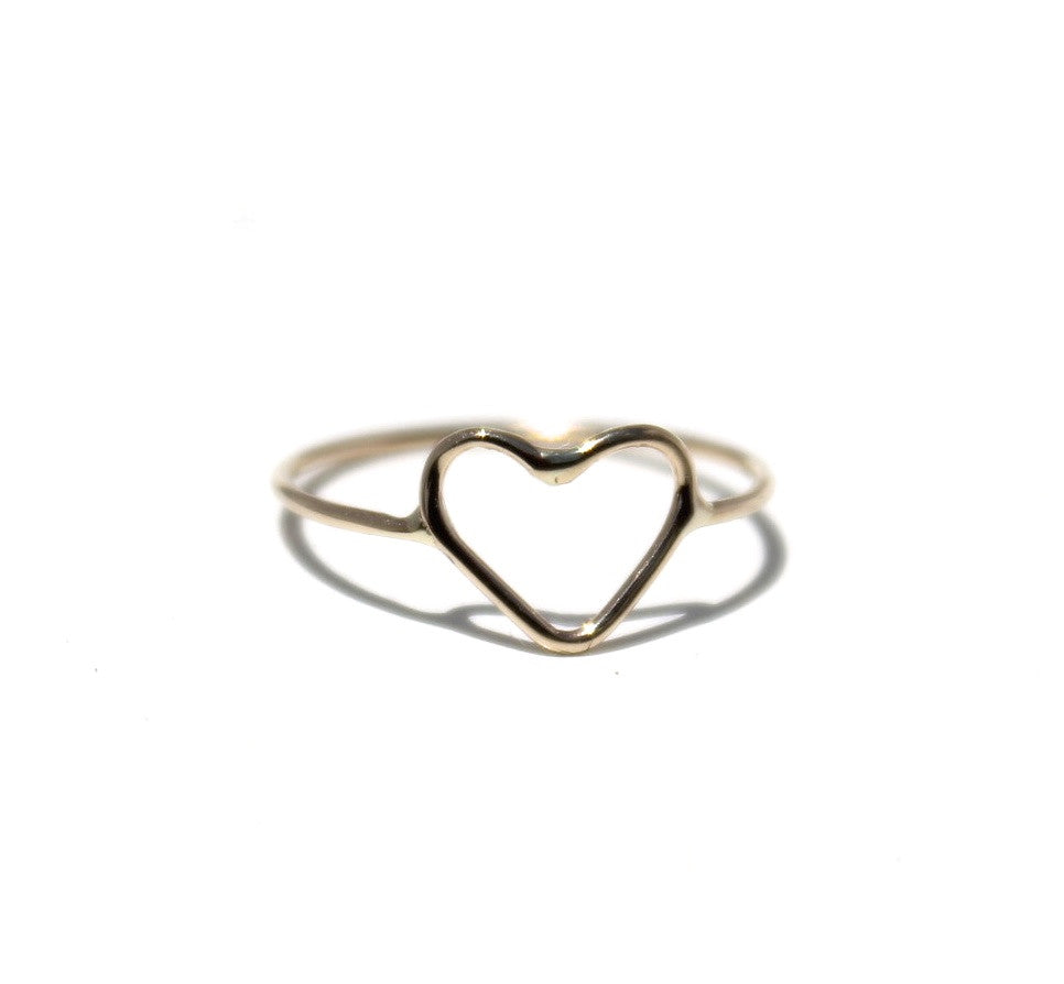 14K Heart Ring (More Colors)
