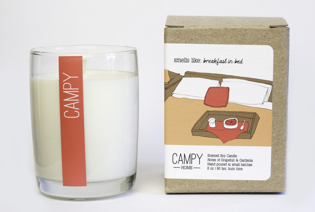Breakfast in Bed Candle ---