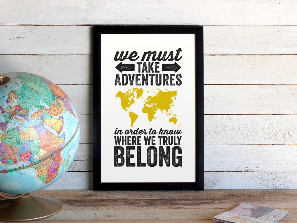 Adventurers World Map Print (More Colors & Sizes)