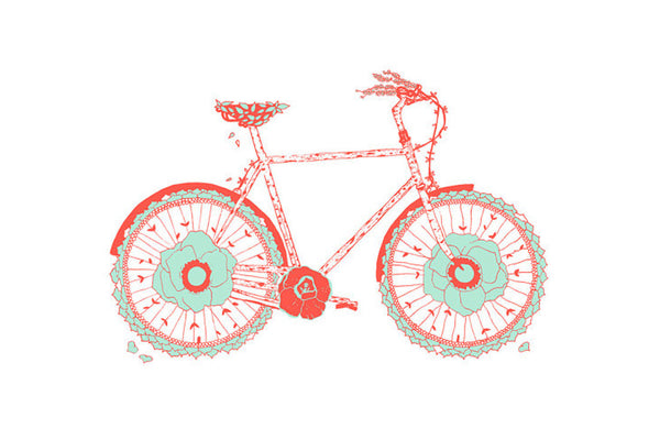 Flowering Bicycle Poster ---