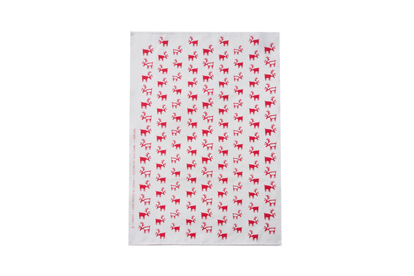 Red Lappland Tea Towel ---
