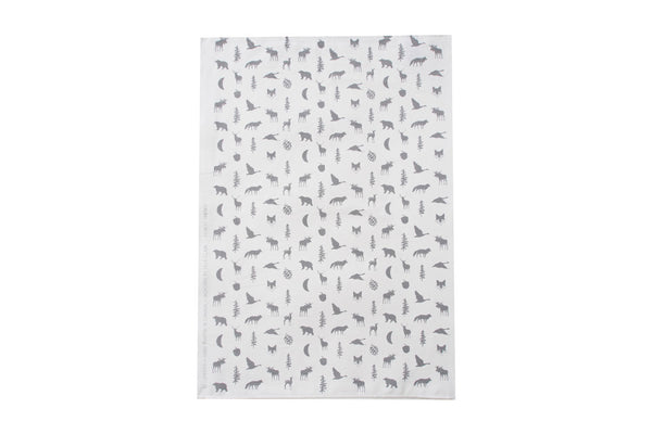 Grey Forest Friends Tea Towel ---