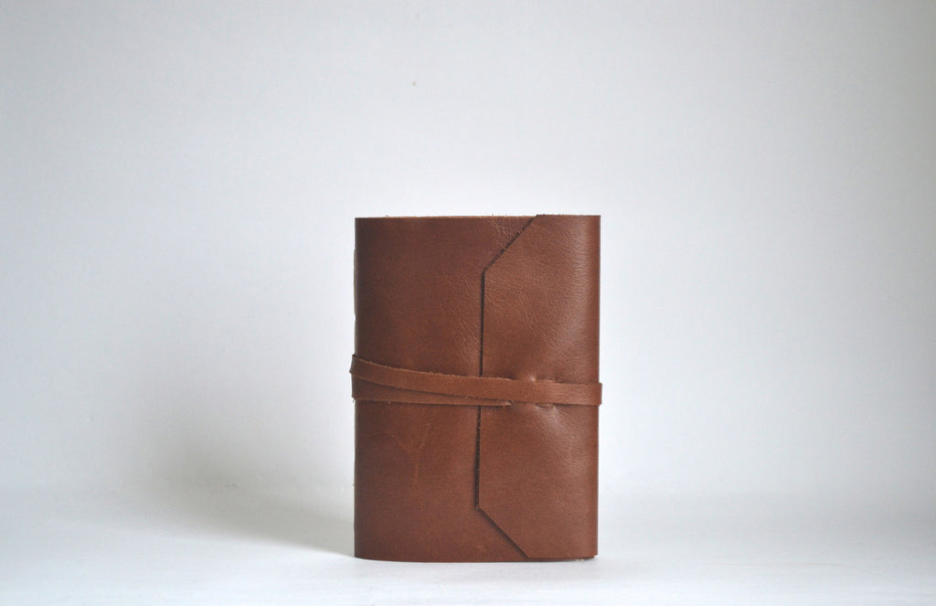 Camel Brown Leather Journal ---