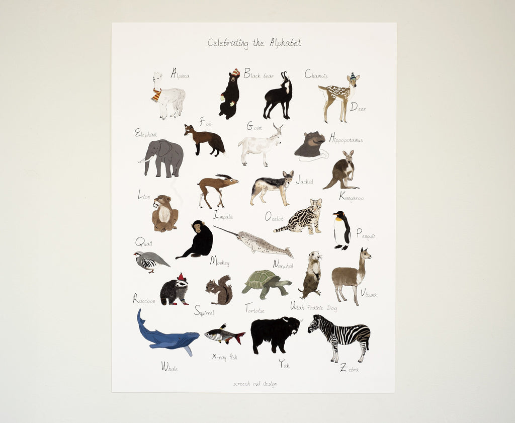 Celebrate the Alphabet Poster ---