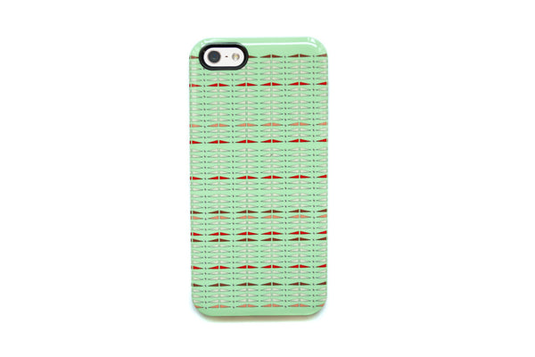 Green Triangles iPhone Case