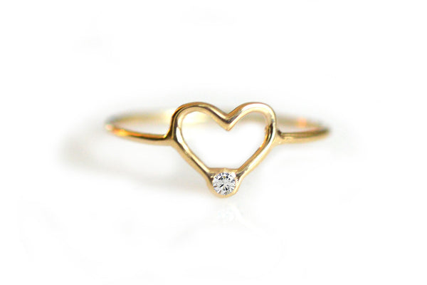 14kt Gold Diamond Forever Love Ring