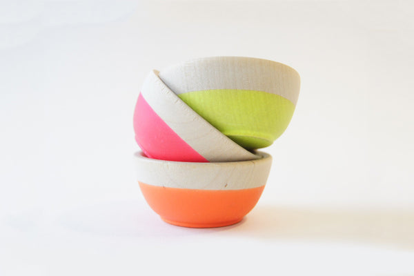 Neon Mini Bowls (Set of 3)