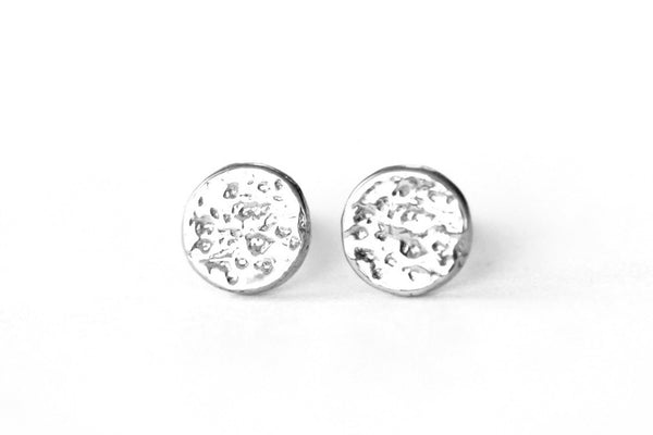 Silver Eclipse Earrings ---