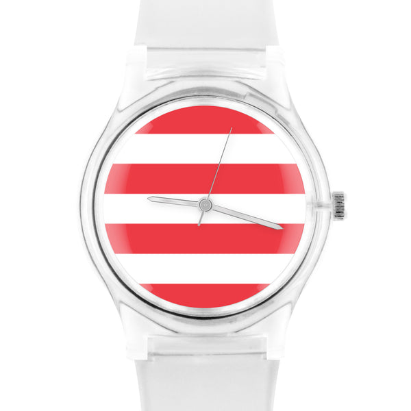05:46PM Red stripes watch