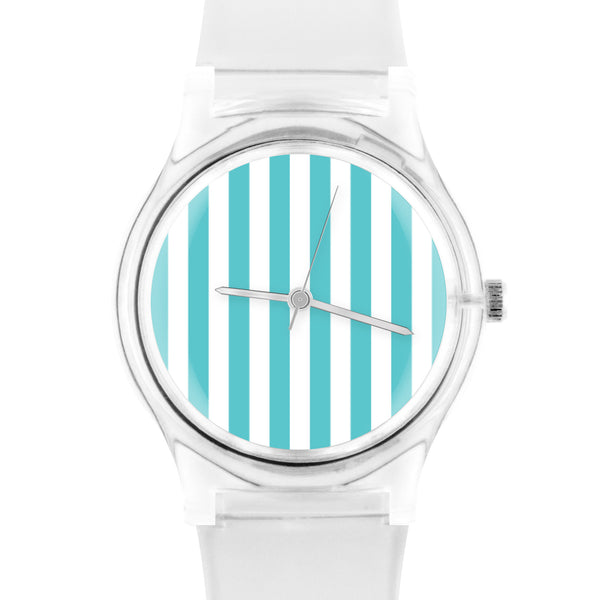 05:44PM Turquoise stripe watch