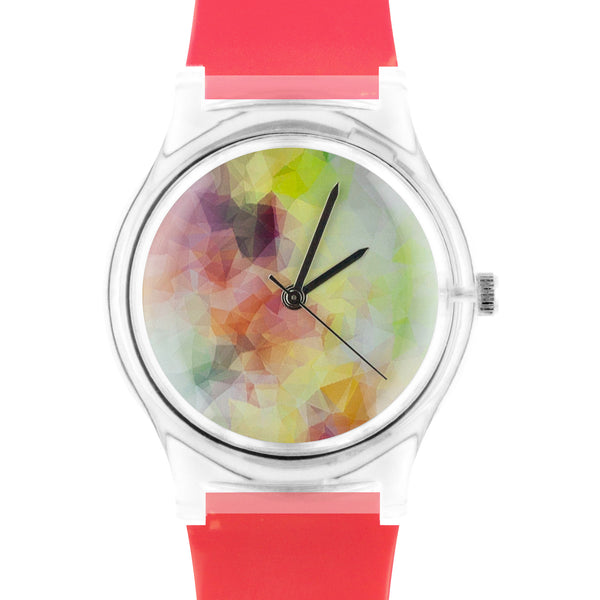 02:03PM Coral Watercolor watch