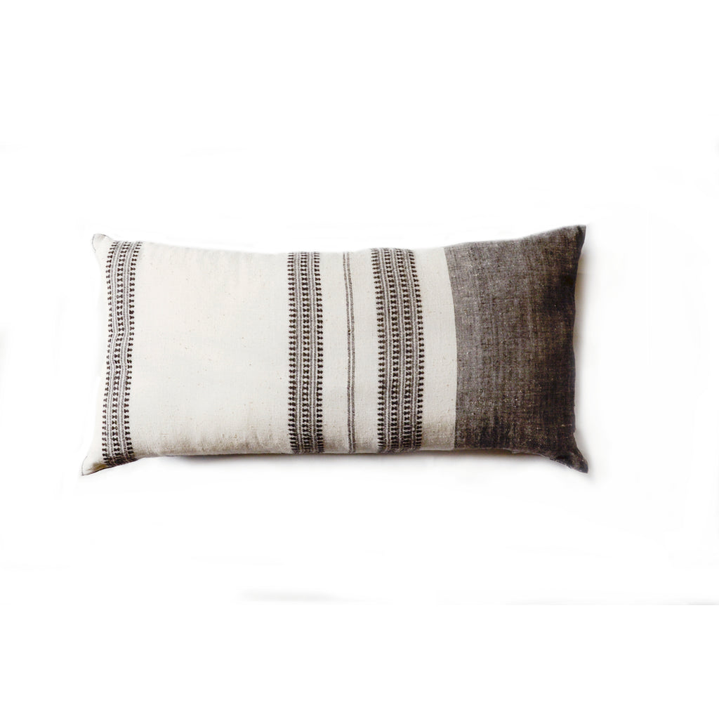 Grey oblong Pillow