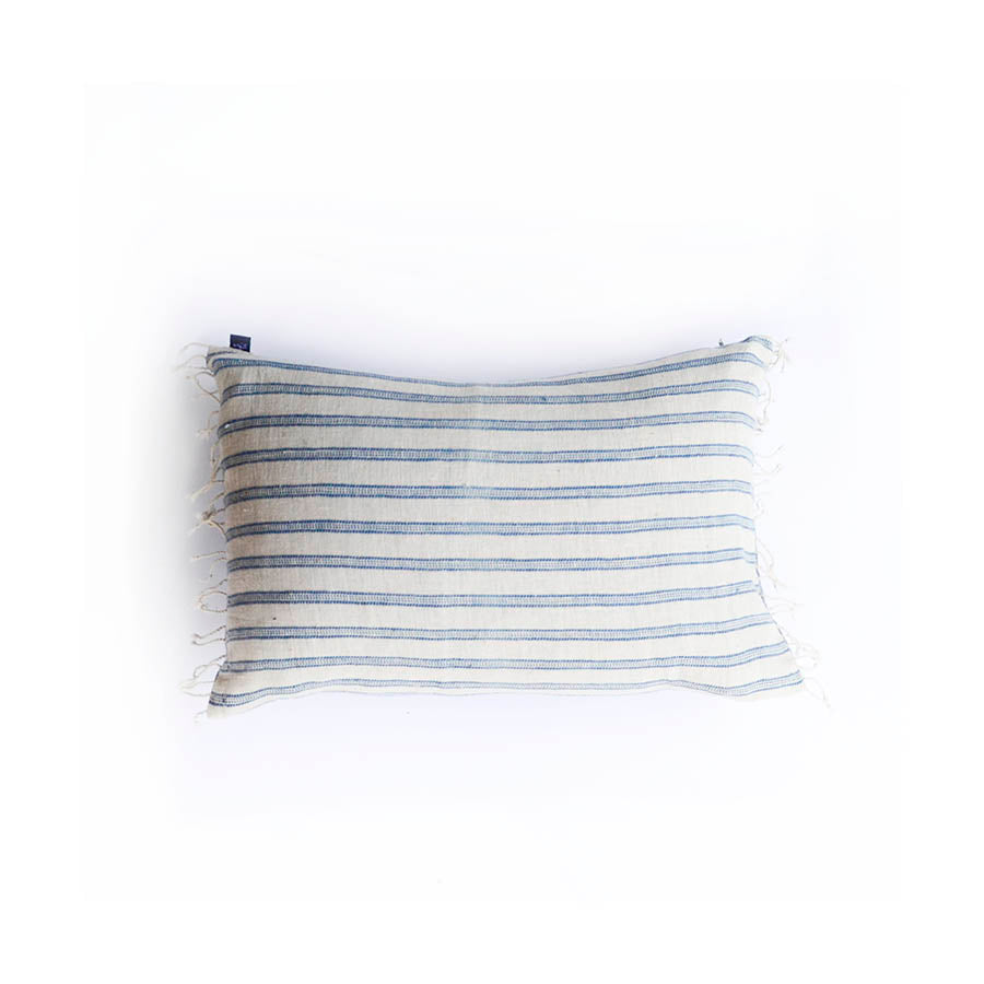 Blue organic boudoir pillow