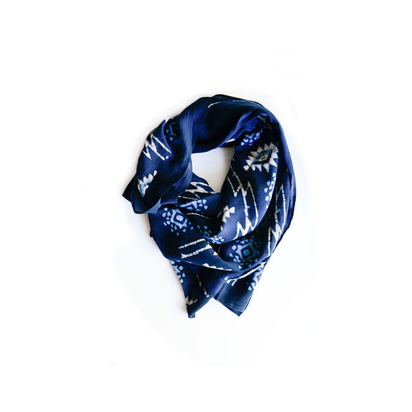 Charcoal Grey Block Print Scarf