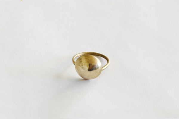 Brass Dome Ring ---