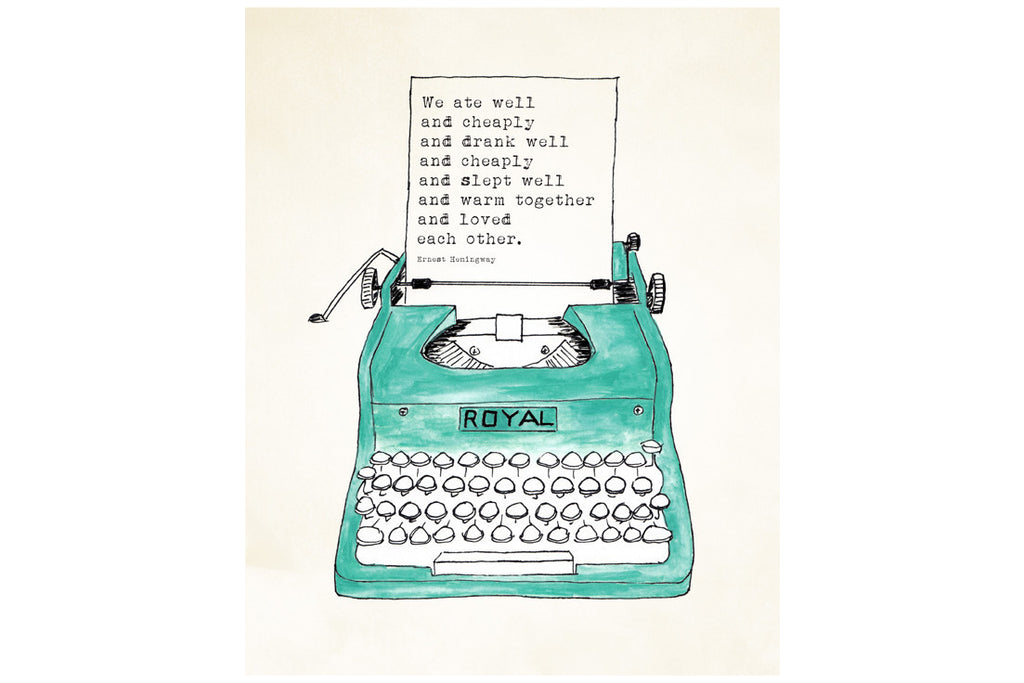 Hemmingway Typewriter Print (More Options) ---