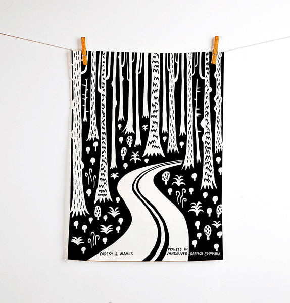 Deep Woods Linen Tea Towel