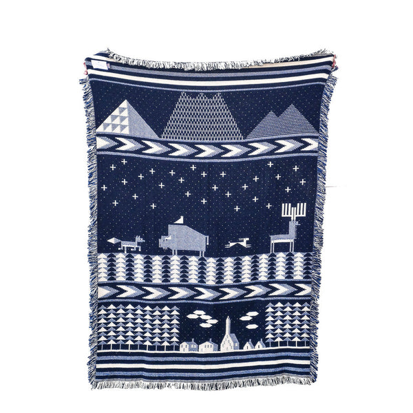 Night Blue Deep Forest Blanket